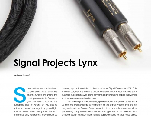 Signal Projects 'Lynx' interconnect, Hifi+ Review