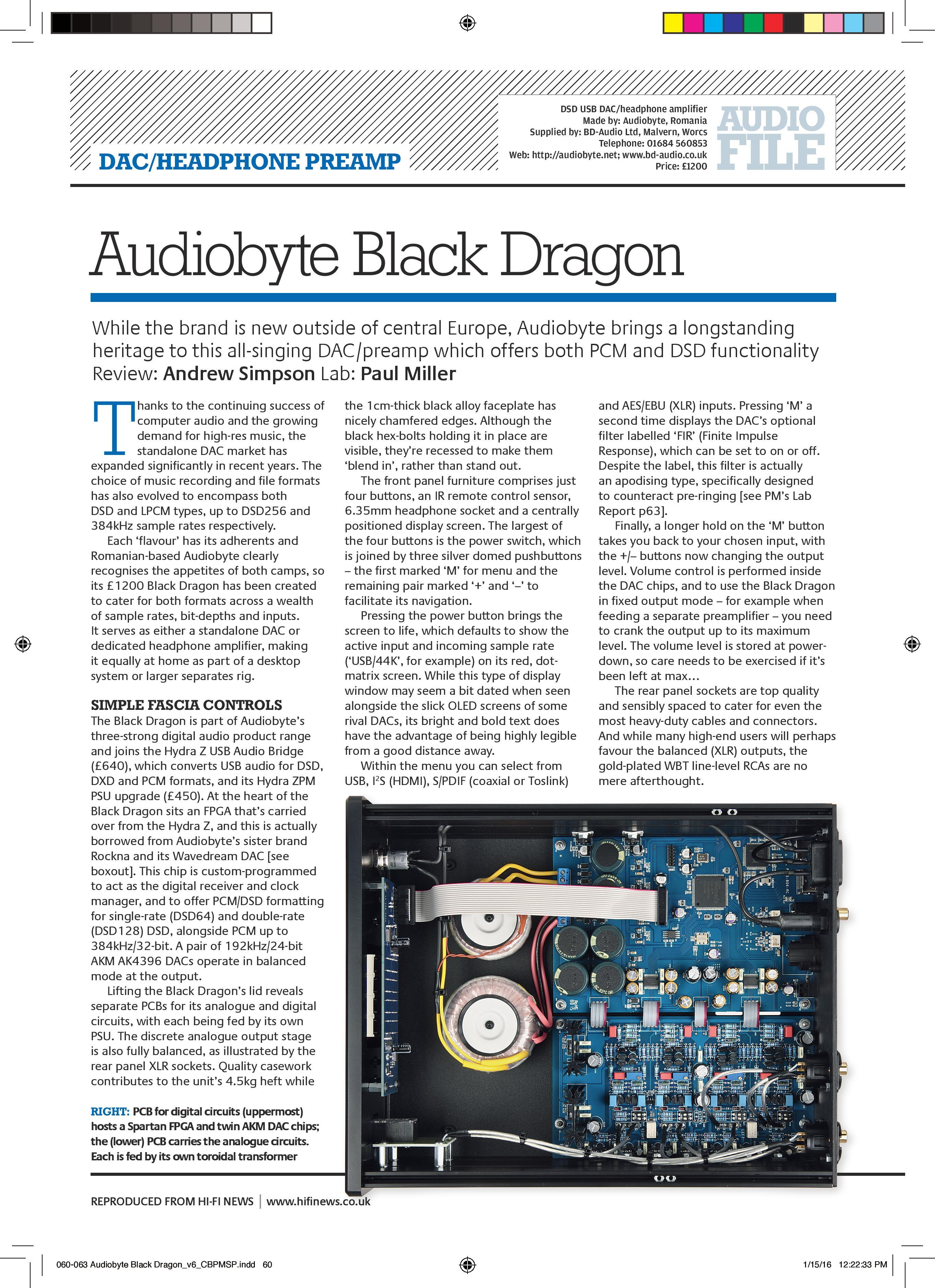 Audiobyte Black Dragon Dac Hifi News Review